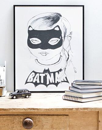 BATGIRL: Kult print til tenåringsrommet hos Bodie and Fou.