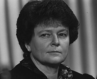 MILJØVERNMINISTER: Her er Gro Harlem Brundtland på World Economic Forum i Davos i 1989. Hun var da statsminister. Men når ble hun statråd?