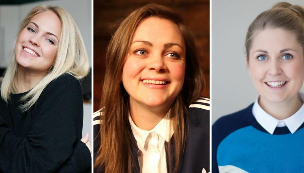 DERFOR ER VI FEMINISTER: For Emilie «Voe» Nereng (20), Siri Seljeseth (27) og Silje Nordnes (31) er det komplett likestilling som gjelder.