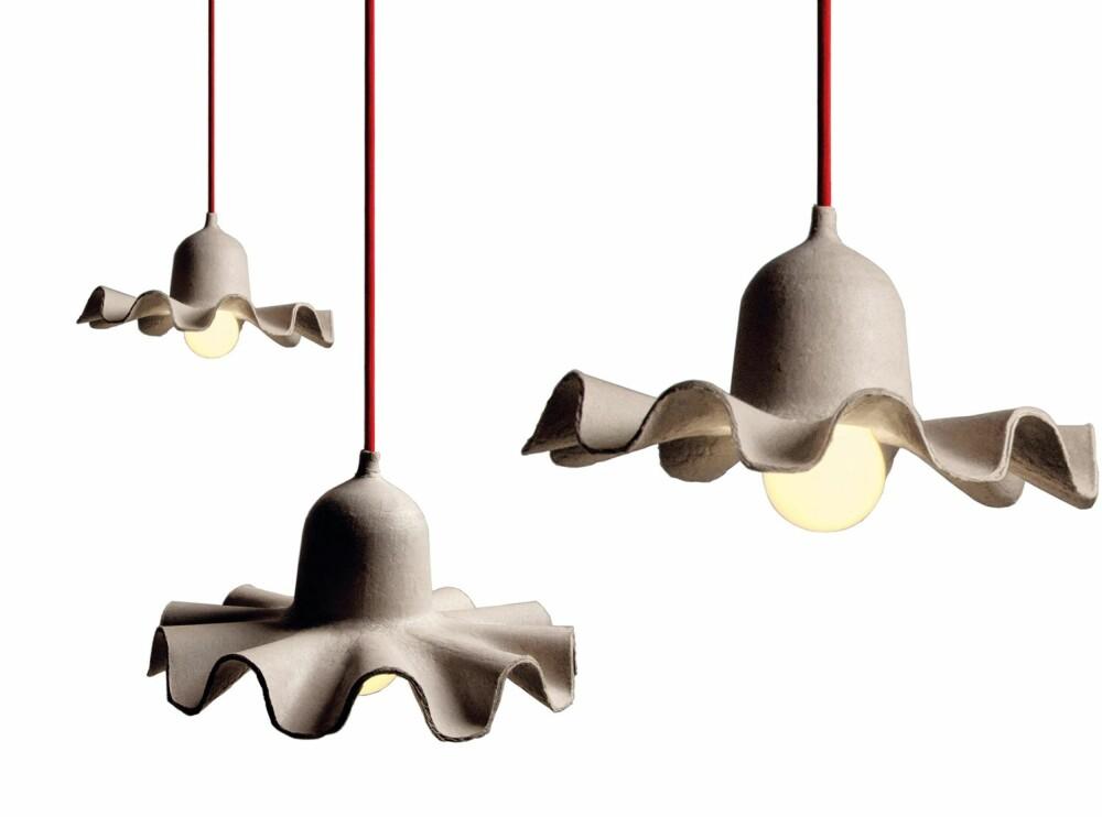 MATERIALE I TIDEN: Papir er et materiale vi vil se mye av fremover. Disse lampene er fra Designtorget.