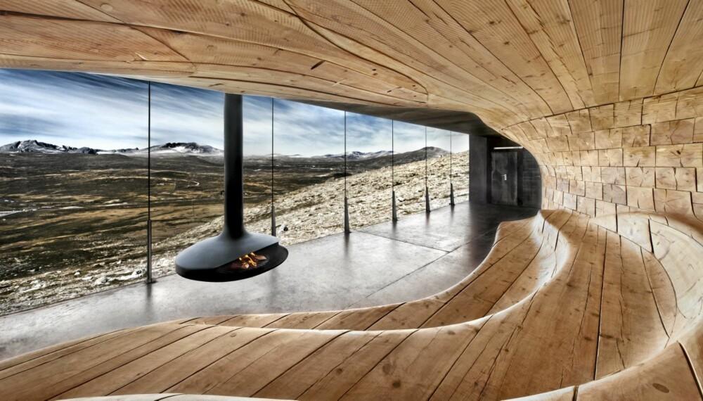 HELT VILT: For Norsk Villreinsenter har Snøhetta tegnet et besøkssenter på Tverrfjellet i Dovre som nylig vant den prestisjetunge prisen World building of the year i kategorien besøkssenter.