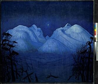 Harald Sohlbergs «Vinternatt i Rondane» fra 1914 er blitt et nasjonalsymbol.