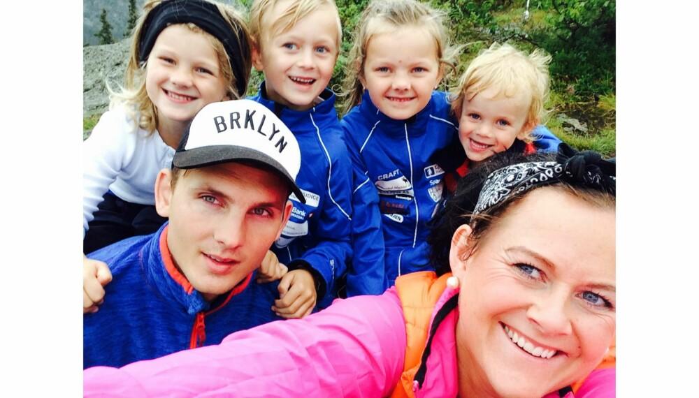 BARNEKJÆR: Ingrid Kathrin og Tomas Ingebrigtsen har hele tiden ønsket seg en stor ungeflokk, og ble foreldre til fire barn på fire år. Men svangerskap nummer fem endte dramatisk.