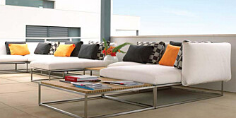 DYRT OG DEILIG: Sofaen Cloud fra engelske Gloster koster noen kroner - men er til gjengjeld vedlikeholdsfri og lekker.