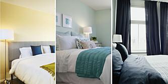 GIR DÅRLIG SØVN: Gult skal være den verste fargen å ha på soverommet, mens blått og grønt kan hjelpe på søvnen.