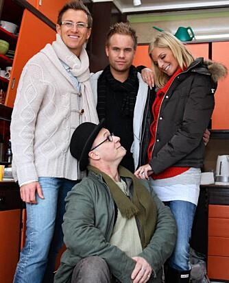 Halvor Bakke, Fredrik (eieren av kjøkkenet), Kathrine Sørland, og Elwin Bradshaw.