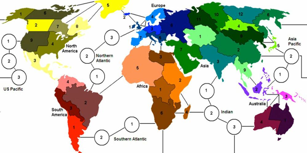 EROBRE VERDEN: Målet med risk er å få fullstendig verdensherredømme.