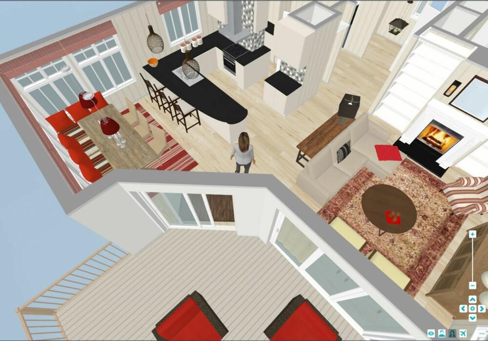 3D-VISNING: Med RoomSketchers 3D-visning kan du gå rundt i rommene og se om innredningen blir slik du ønsker.