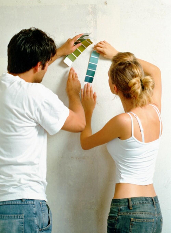 MALEVALG: Nå kan du se hvordan hele veggen ser ut i fargen du ønsker, uten å male.