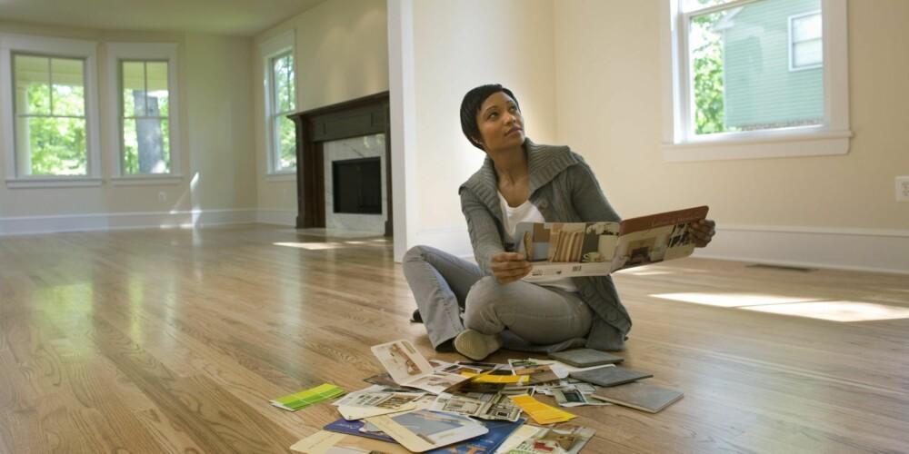 VALG: Hvilken farge skal veggene ha? Hvor skal møblene stå?