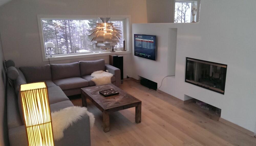 TEGNET SELV: Andreas Johnsen brukte RoomSketcher da han tegnet stuen i sitt nye hjem.