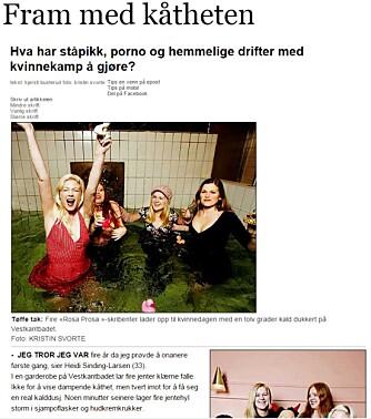 OPPSTYR: Jentene bak Rosa Prosa stilte opp i Dagbladet for å fortelle om jenter og kåthet.
