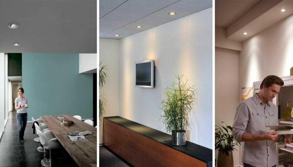 PLASSERING AV DOWNLIGHTS: Tenk godt igjennom plassering av downlights og valg av lyskilde.