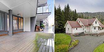 TIL SALGS: For 2 920 000 kroner kan du velge mellom en 45 kvm leilighet på Aker Brygge eller 153 kvm villa i Skien.