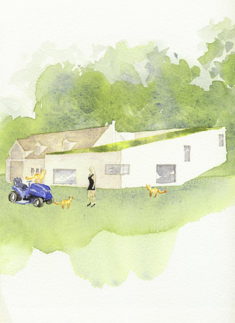 Spiral House Watercolour
