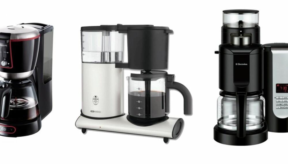TRAKTERTEST: I vår test kan du lese hvilke kaffetraktere som er brukervennlige og gir deg god kaffe.