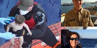 REDDER LIV: Lise Dunham og Anne Marie Bruu deltar i redningsoppdrag i Middelhavet.