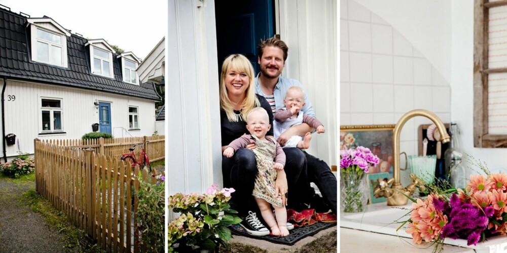 FAMILIEN SAMLET: Helene Andersen (34), steinerskolepedagog fra Porsgrunn, lærersamboeren Vegard Sandvik (33) og tvillingene Iben og Eira (1 ½). Familien bor i en to-mannsbolig fra 1859 på Rodeløkka i Oslo.