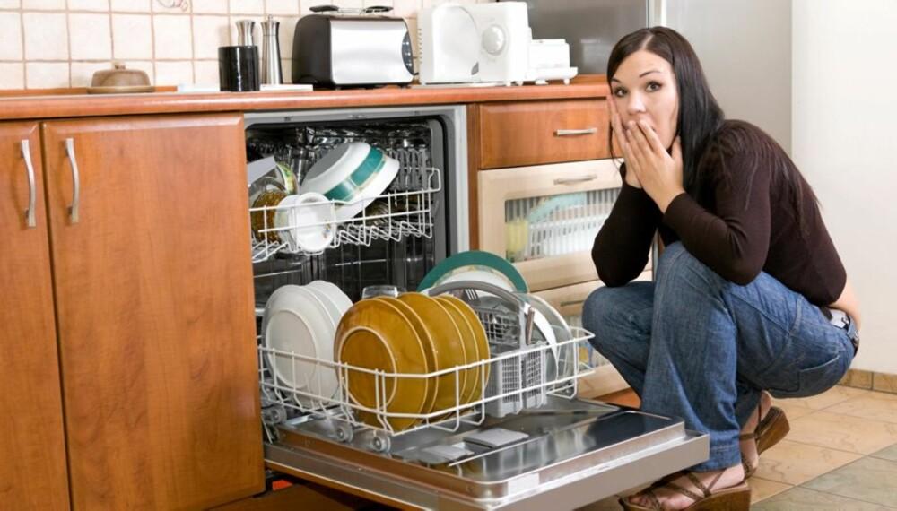 Den integrerte oppvaskmaskinen er noe av det som skal være igjen i boligen når den selges.