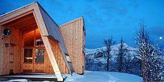 VILLMARKSHYTTE: Å bygge hytta i massivtre er et miljøvennlig alternativ. Denne hytta til Esten Aas-Eng ble ferdig på to dager.