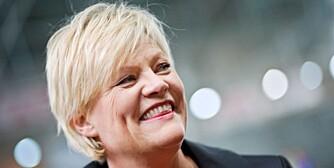 OPTIMIST: Finansminister Kristin Halvorsen tror hennes statsbudsjett legger til rette for rentenedgang.