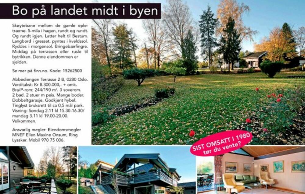 ANNERLEDES: Slik valgte Anders Madsen å presentere foreldrenes bolig når den skulle selges. Boligen ble solgt på én visning.