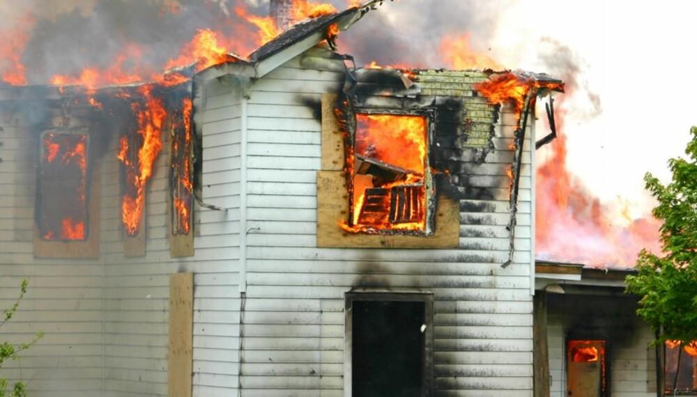 Brann i bolig.