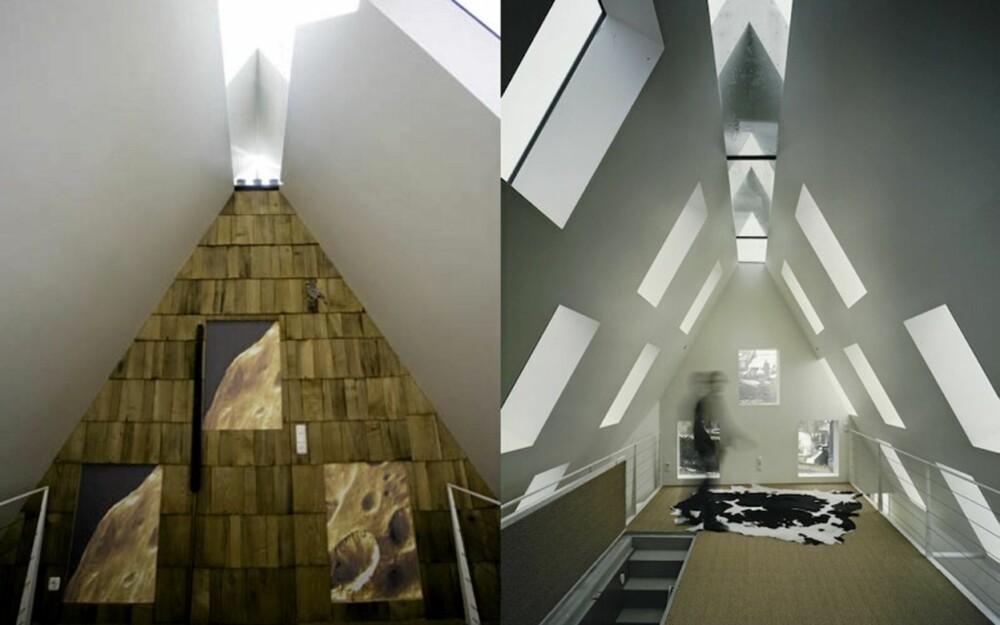 Loftet med mange åpninger til lyset.