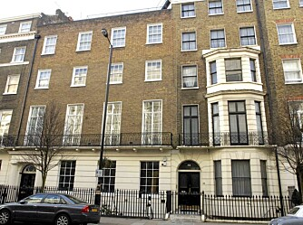 FAMILIEHJEMMET: I dette huset i London bodde Madonna sammen med Guy Ritchie og barna Lourdes, Rocco og David.