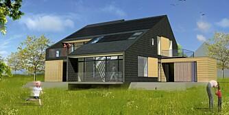 BOLIG FOR LIVET: Basert på en standard løsning med tre eller fem rom, skal boligen utnytte vedvarende, CO2-nøytrale energikilder.