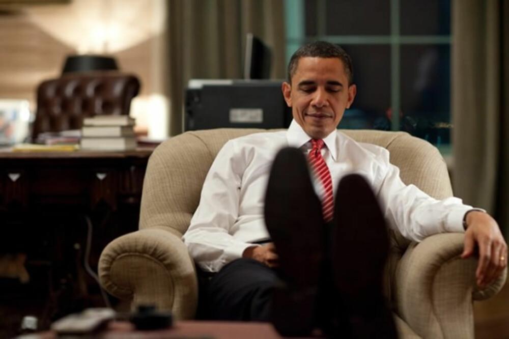 GODSTOLEN: Obama og Michelle oppgraderte interiøret i presidentboligen med møbler og kunst.