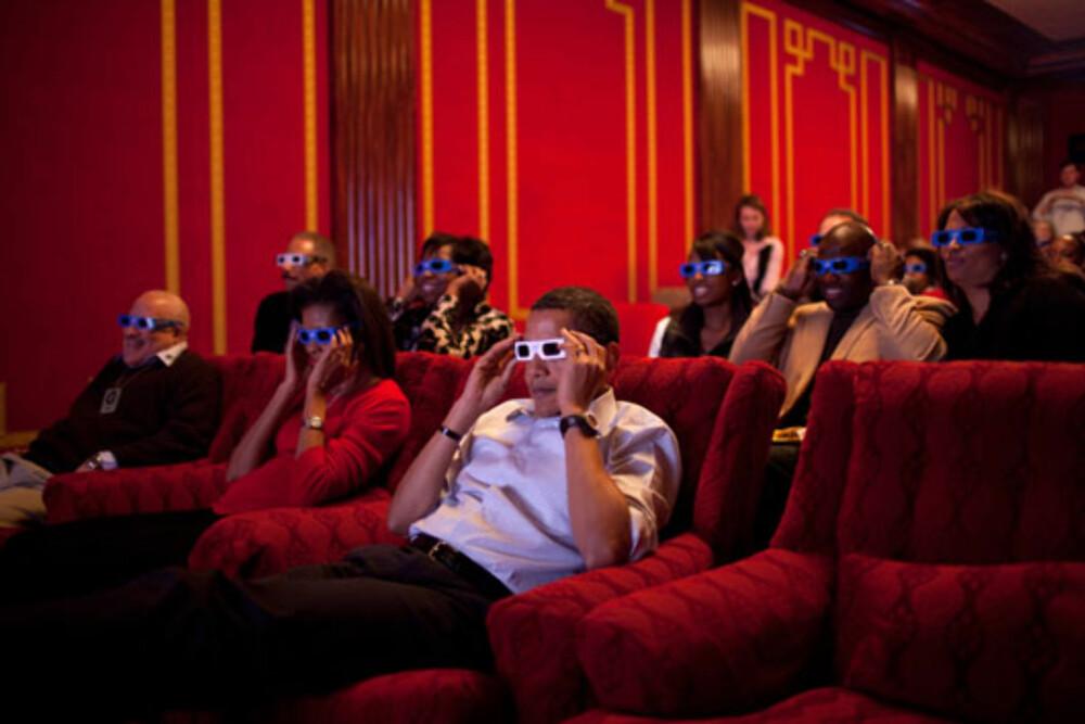 EGEN KINO: Obama-familien kan invitere venner hjem på sin egen kino.