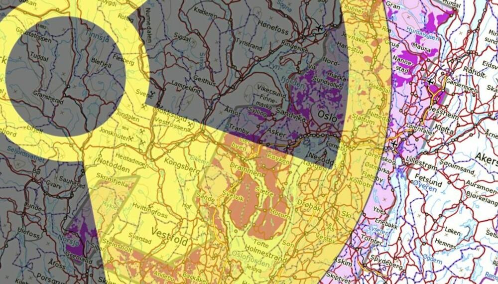 kart over radonforekomster i norge Slik måler du radon   Bolig kart over radonforekomster i norge