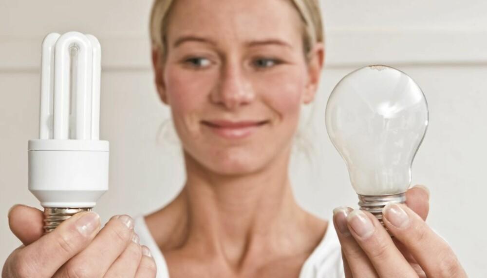 FORBUDT MED GLØDEPÆRE: Bytt glødepæren ut med sparepære eller led-lys.