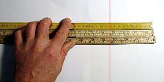 Stort avvik: Her er det drøye fem millimeter forskjell på meterstokkene.