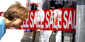 JANUARSALG: Selv om det er salg er det ikke sikkert du handler så smart. Vi gir deg tipsene til hvordan du får best utbytte av salget.