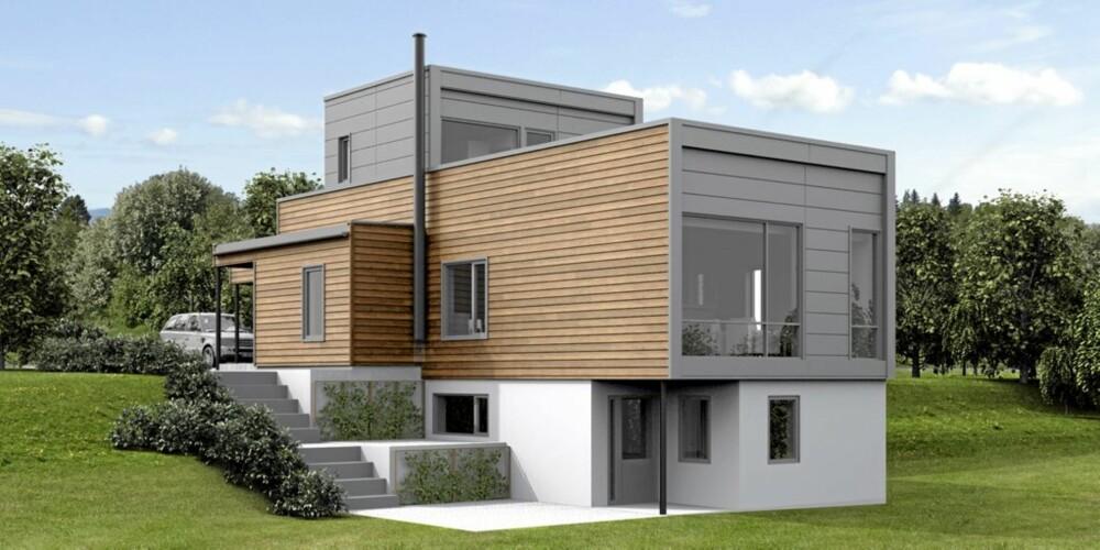 KVADRAT: Dette huset er det Nordbohus som selger.