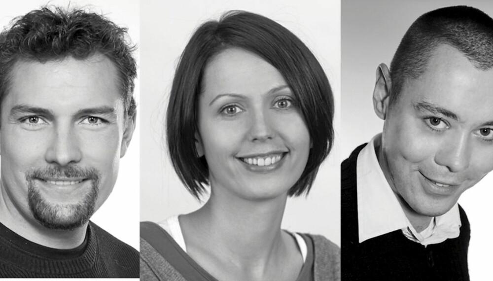 rom123s eksperter. Fra venstre: Tron Aron Kristiansen, Ingvild Hemma og Boris Kristijan Praskac.