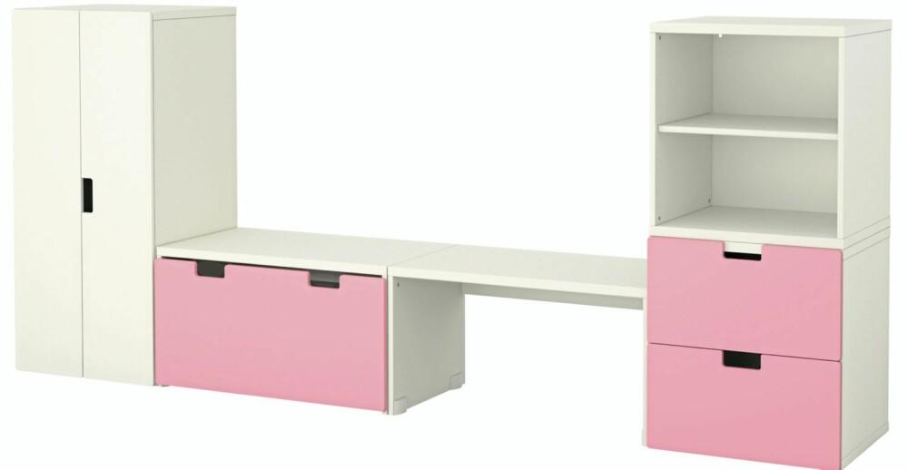 STUVA: Dype brede oppbevaringsskuffer til barnerommet som også kan benyttes til å sitte på.