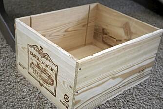 GJENBRUK: Vinkasser i tre er dekorativt og praktisk - og kan brukes til så mangt.