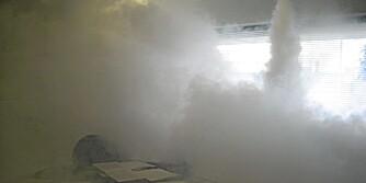 TÅKESIKRING: Med et tåkesikringsanlegg i huset, fylles rommet med ugjennomsiktelig røyk på få sekunder, og en eventuell innbruddstyv er nøytralisert.