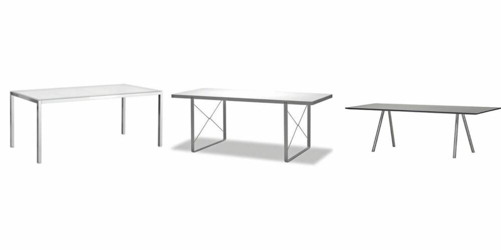 MINIMALISTISK: Fra venstre: Ikea kr 1995, Bolia kr 6499, Vitra kr 38966
