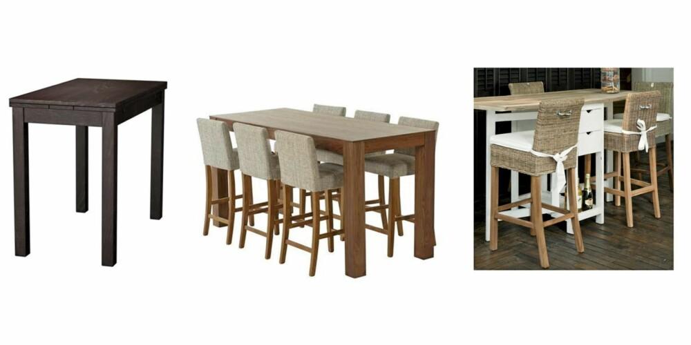HØYT OG TRENDY: Fra venstre Ikea kr 895, Living kr 3995 Riviera Maison kr 10459