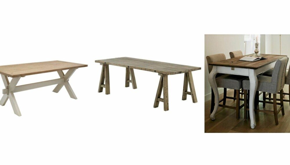 LANDLIG STIL: Et rustikt og landlig uttrykk er en av mange ulike stiler du kan finne blant spisebord på markedet.