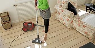 VIKTIG MED RENGJØRING: De fleste støvsuger eller vasker for sjelden. Minimum én gang i uken bør det rengjøres.