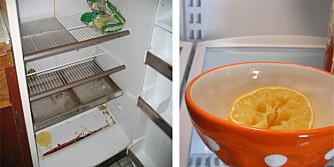 TA EN SITRON: Ved vond lukt i kjøleskapet kan en sitron hjelpe.