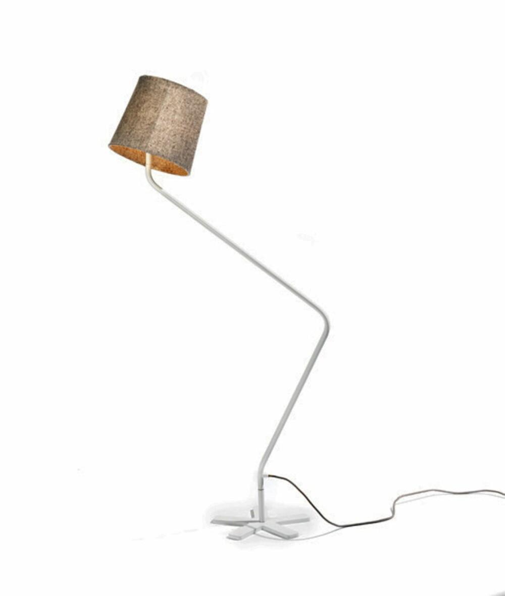 TILPASNINGSDYKTIG: Groggy er en praktisk og kuriøs lampe med roterbar skjerm.