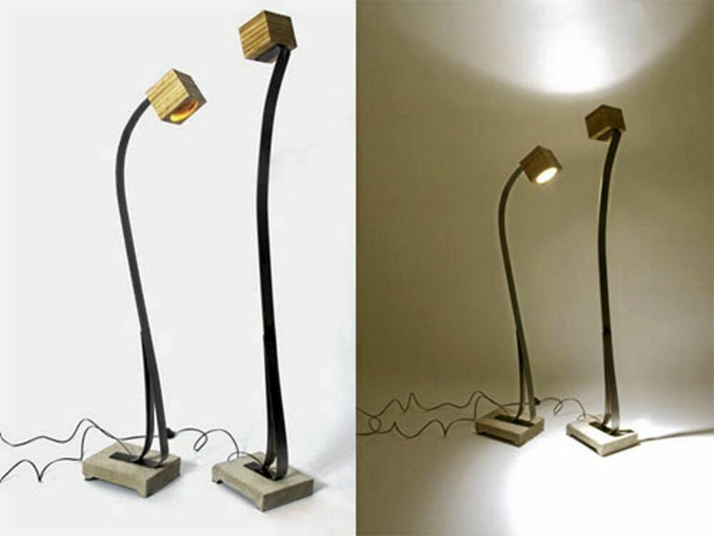 GRASIØS: Stalb lighting har en grasiøs holdning og en resirkulert lampeskjerm i finer.