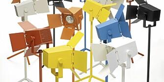 FOTO: Lampen Foto fra Zero er inspirert av studiolamper og har et tøft og industrielt uttrykk.