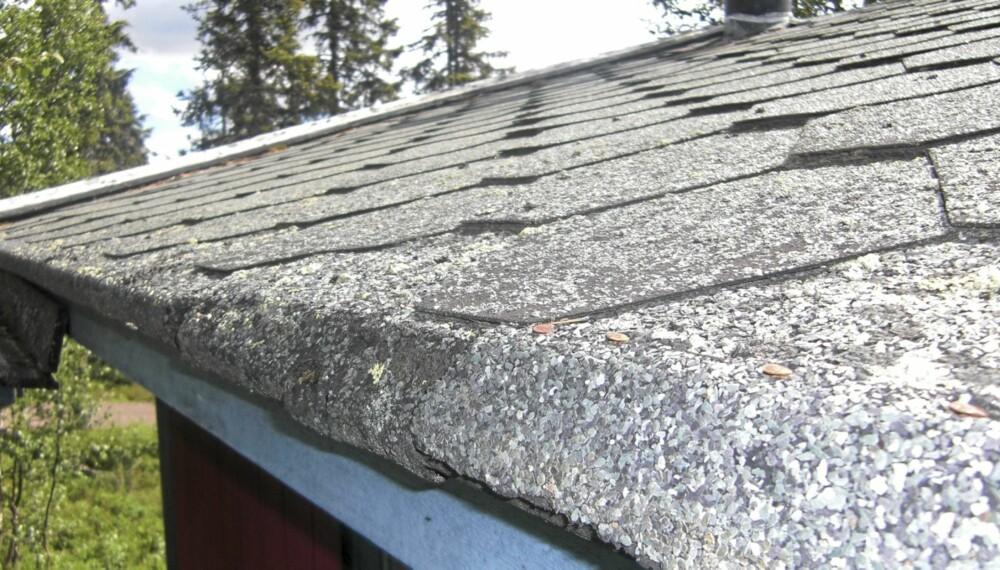 SPREKKDANNELSER: Ser du sprekkdannelser i overflaten eller spikere som kommer opp, kan det være tegn på at du må legge taket på nytt.